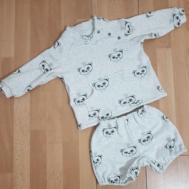Conjunto bebé con tejido sudadera de osos