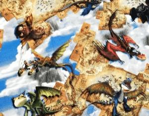 Tela punto camiseta cómo entrenar a tu dragón