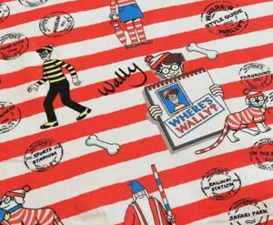 Tela punto camiseta buscando a Wally