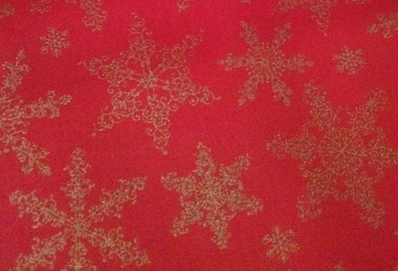 tela de navidad estrellas doradas