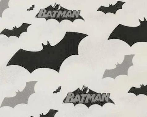 Tela estampada con logotipo de Batman