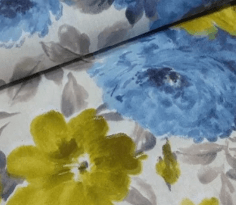 Tela loneta de oferta con flores azules