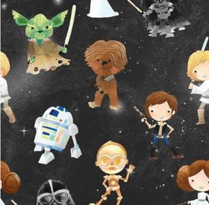Tela popelín estampado Star Wars
