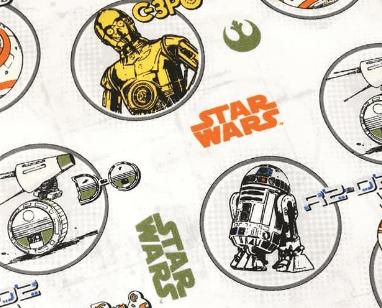 Tela con personajes de Star Wars