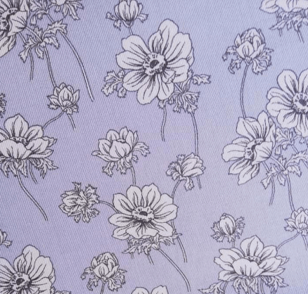 Tela viyela estampado flores fondo celeste