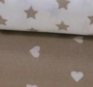 Telas de algodón de corazones y estrellas
