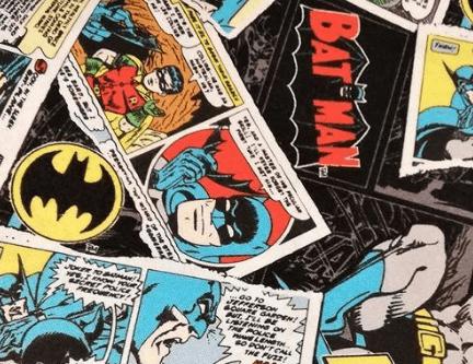 Tela estampada tipo cómic Batman