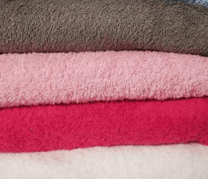 Telas rizo toalla de colores