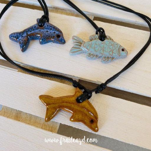 Delfín cerámica