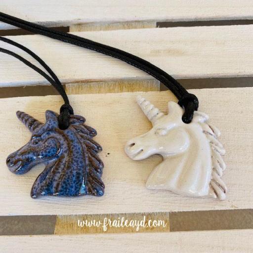 Unicornios cerámica