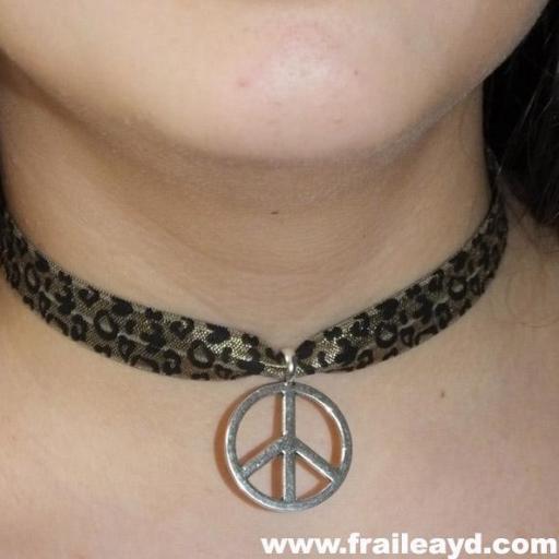 Choker símbolo paz