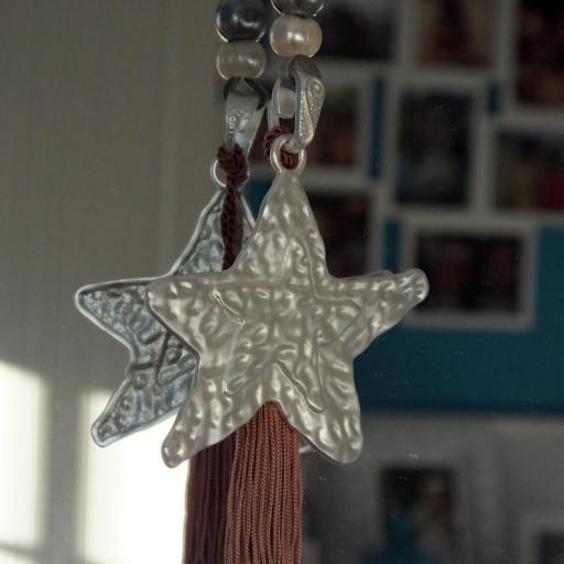 Colgante estrella plata con borla [1]