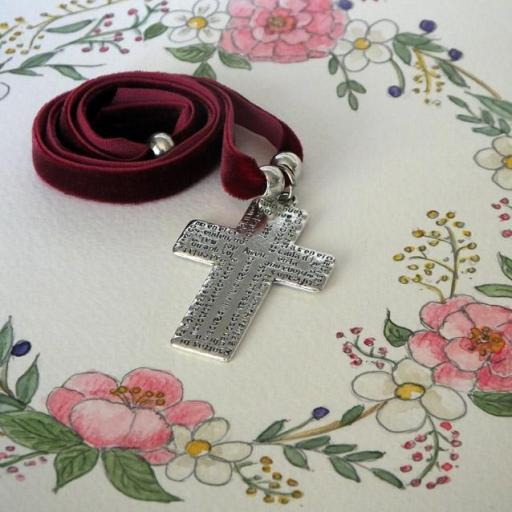 Garagantilla terciopelo cruz Padrenuestro [1]