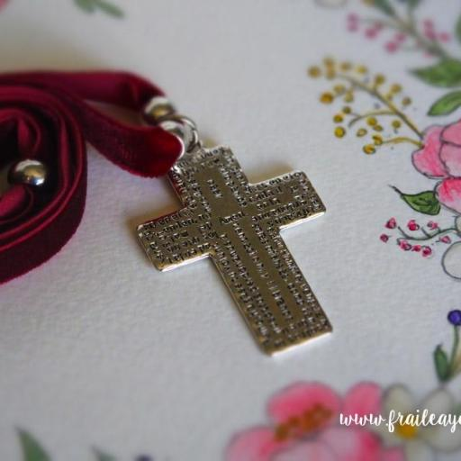 Garagantilla terciopelo cruz Padrenuestro [2]