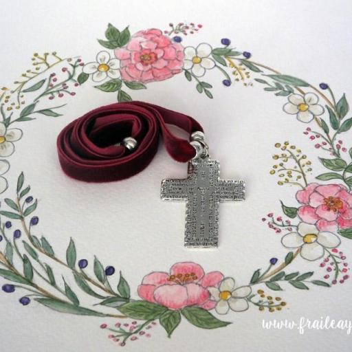 Garagantilla terciopelo cruz Padrenuestro [3]