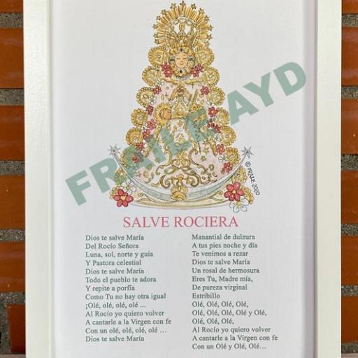 Cuadro Virgen del Rocío con salve [1]