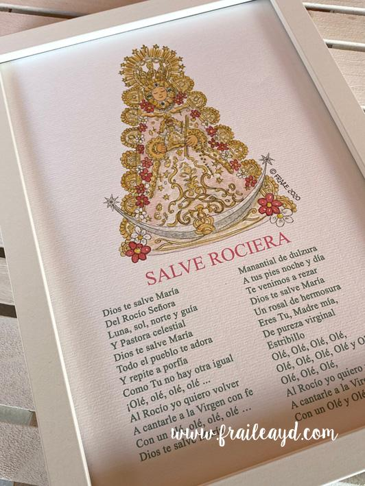 Cuadro Virgen del Rocío con salve