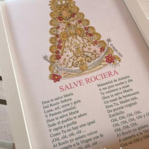 Cuadro Virgen del Rocío con salve [0]