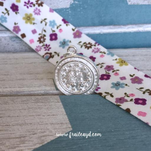Medalla Virgen Milagrosa redonda plata circonitas [1]