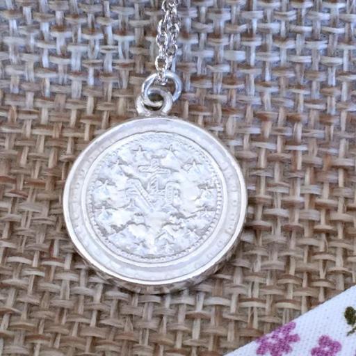 Medalla Virgen Milagrosa redonda plata circonitas [2]