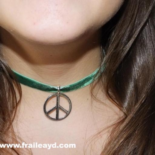 Choker símbolo paz [1]