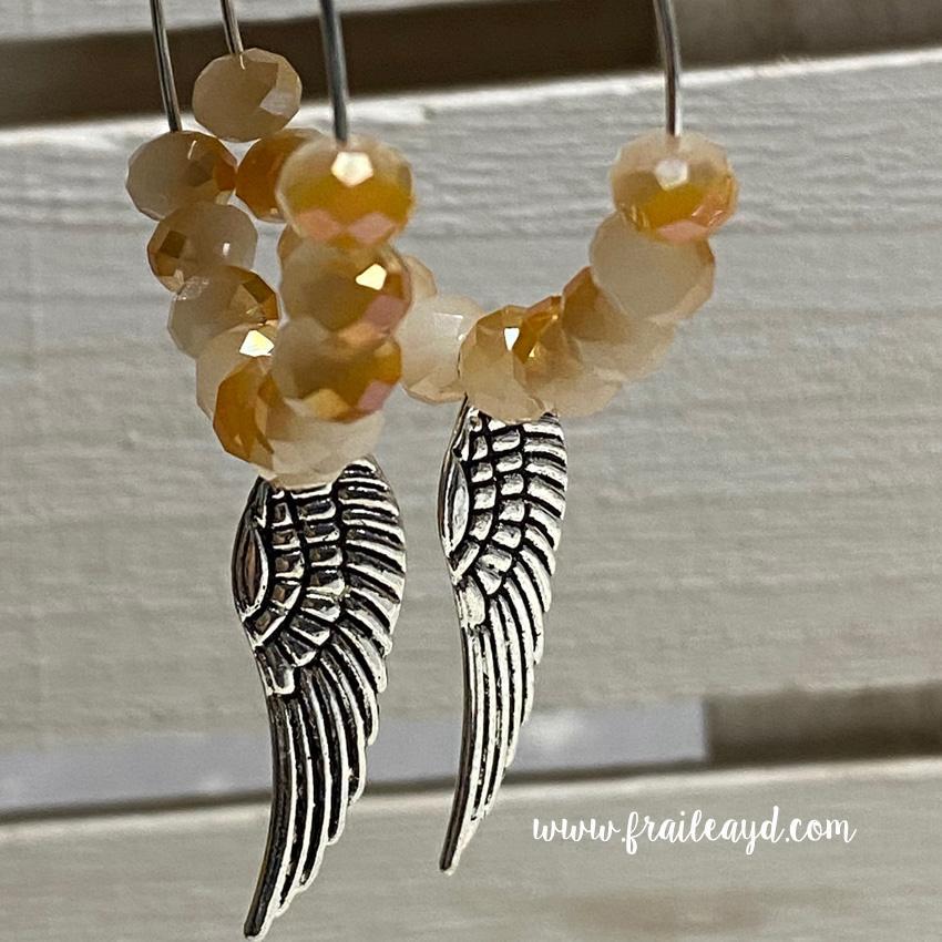 Pendientes Hippie cristal y alas