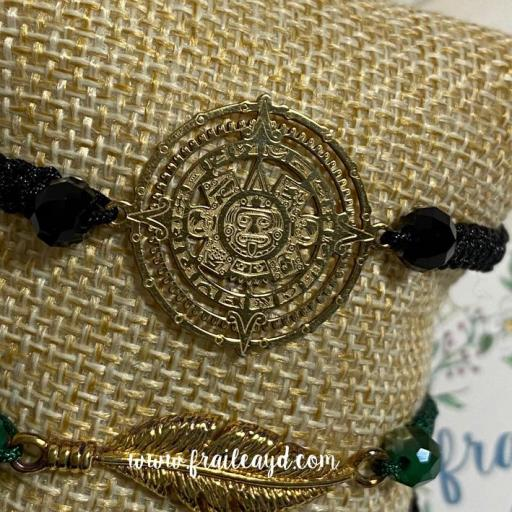 Pulsera Calendario Maya oro [3]