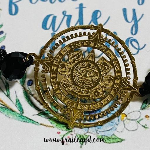 Pulsera Calendario Maya oro [1]
