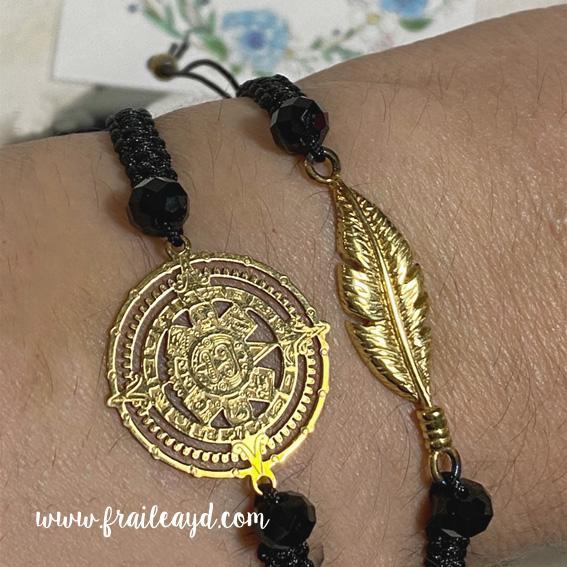 Pulsera Calendario Maya oro