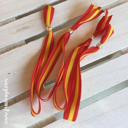 Pack 50 pulseras cinta bandera española [1]
