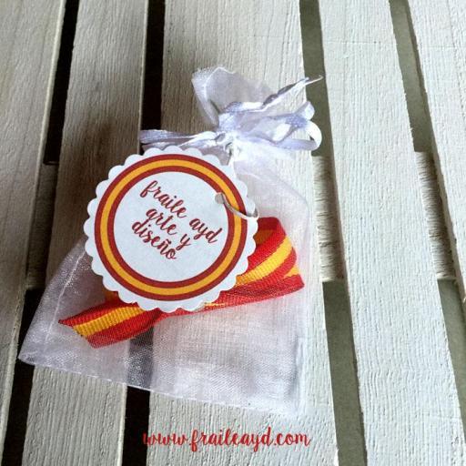 Pack 10 pulseras cinta bandera española [2]