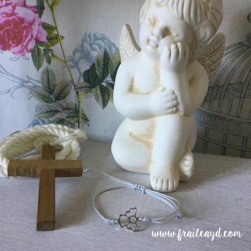 Pulsera macramé angelito calado plata [1]