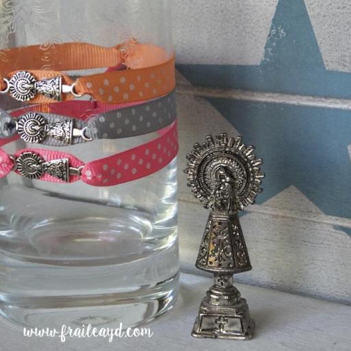 Pulsera cinta de topos Virgen del Pilar mini
