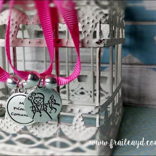 Pack 10 pulseras Mi Primera Comunión niña en bolsa de gasa