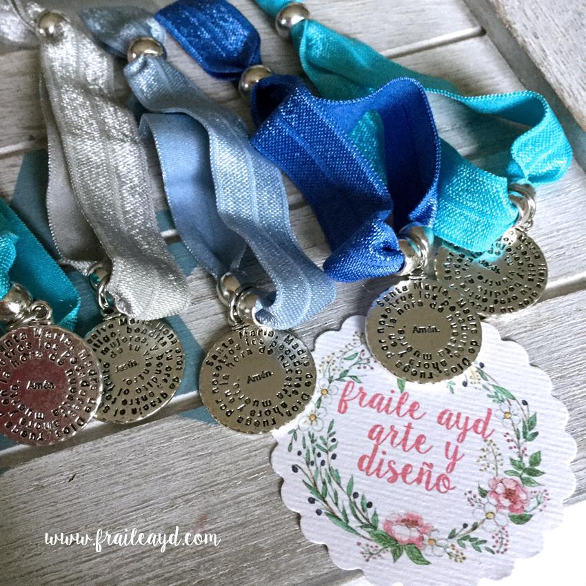 Pulseras elásticas medalla Avemaría