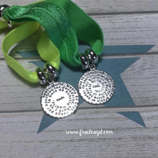 Pulseras elásticas medalla Avemaría [2]
