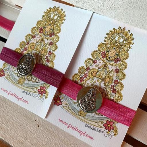 Pulsera elástica brillo Virgen del Rocío Estampa