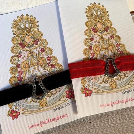 Pulsera elástica Virgen del Rocío silueta Estampa [1]