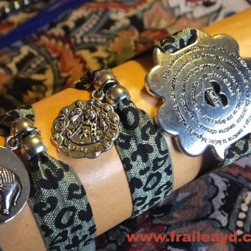 Pulseras elásticas leopardo caqui [1]