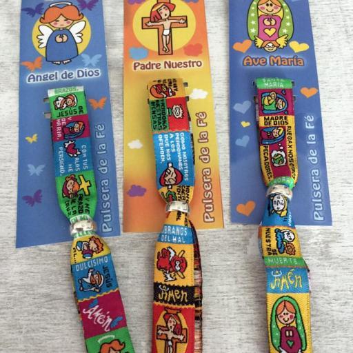 Pack 24 pulseras de oración Padrenuestro, Avemaría o Ángel de la Guarda [1]