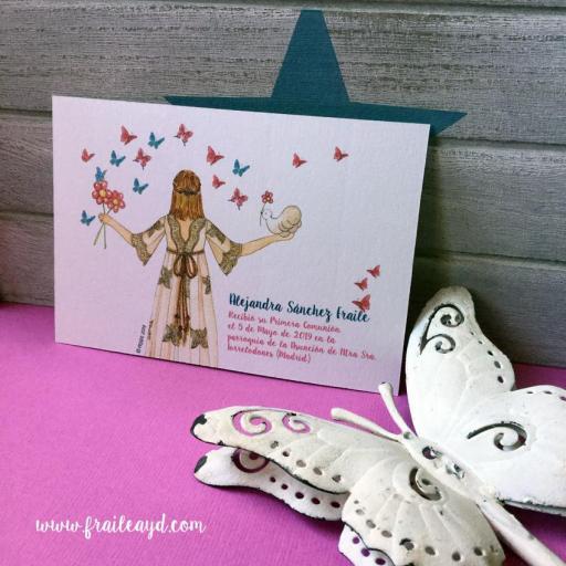 Recordatorio comunión Mariposas de espaldas13x9 cm 2 [1]