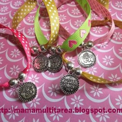 Pulseras de cinta medalla Angelito Por Fis
