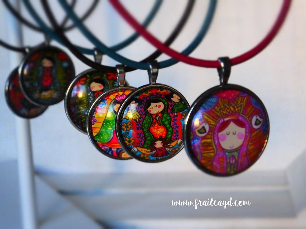 Medallas camafeo Vírgenes Mexicanas