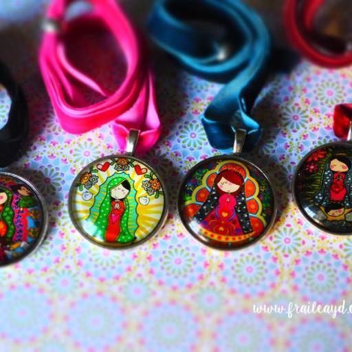 Choker (gargantilla) medallas Vírgenes Mexicanas [0]