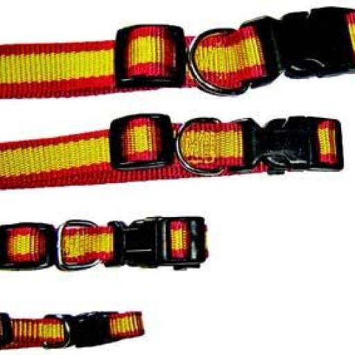 Collar Nylon Diseño Bandera España para Perros
