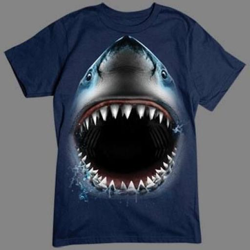 Camiseta de Tiburón en 3D