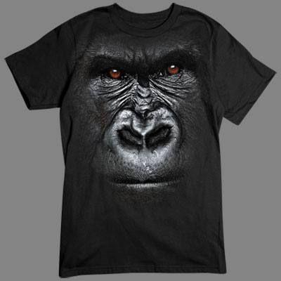 Camiseta en 3D Gorila