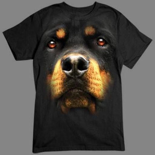 Caniseta Rottweiler en 3D