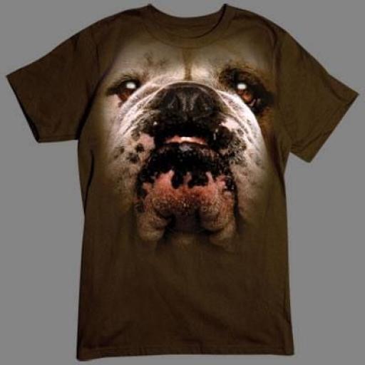 Camiseta Bulldog Inglés en 3D