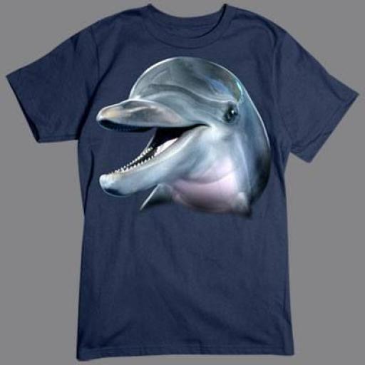 Camiseta con Delfín en 3D